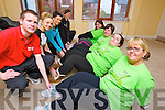 Taking part in the Operation Transformation fundraiser for Console charity are back to frontKaren Lonergan (Rahoonane, Tralee) Tracey Nelligan (Rahoonane, Tralee) Aisling Powell (Rahoonane, Tralee) and Regina O&rsquo;Connor (Cois Coille, Tralee) pictured with their trainers front to back: John Enright (Banna Leisure Centre), Siobhan Sentry (Advanced Fitness Education),<br /> Caitriona Cantillon (Manor West) and Janet Slye (Manor West).
