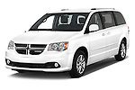 2017 Dodge Grand-Caravan SXT 5 Door Minivan Angular Front stock photos of front three quarter view