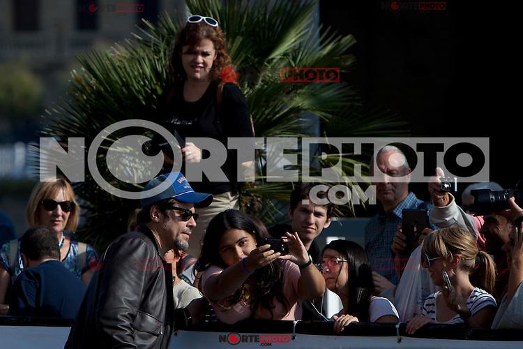 Puerto Rican actor Benicio del Toro arrives to Maria Cristina Hotel during the 62st San Sebastian Film Festival in San Sebastian, Spain. September 26, 2014. (ALTERPHOTOS/Caro Marin) /NortePhoto.com