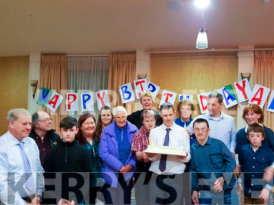 Alan Healy from Derrynane & Tigh an Oileain, Valentia   Celebrated his 40th birthday with family and friends in the Ring of Kerry Hotel on Saturday.