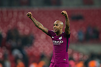 Manchester City's Fabian Delph celebrates <br /> <br /> Photographer Craig Mercer/CameraSport<br /> <br /> The Premier League - Tottenham Hotspur v Manchester City - Saturday 14th April 2018 - Wembley Stadium - London<br /> <br /> World Copyright &copy; 2018 CameraSport. All rights reserved. 43 Linden Ave. Countesthorpe. Leicester. England. LE8 5PG - Tel: +44 (0) 116 277 4147 - admin@camerasport.com - www.camerasport.com