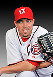 25 February 2011: Washington Nationals' pitcher Sean Burnett poses for his Photo Day portrait at Space Coast Stadium in Viera, Florida. Mandatory Credit: Ed Wolfstein Photo