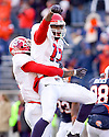 December 5, 2009 - Champaign, Illinois, USA - Fresno State receiver Jamel Hamler (17) celebrates a touchdown in the game between the University of Illinois and Fresno State at Memorial Stadium in Champaign, Illinois.  Fresno State defeated Illinois 53 to 52..