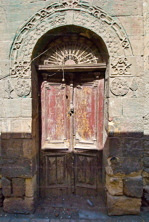 Cairo, Egypt -- An old door in Coptic Cairo. © Rick Collier / RickCollier.com