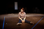 June 25, 2012. Raleigh, NC.. Olivia Lemmon runs through scenes during the Awkward Elephant Project rehearsal..  Burning Coal Theatre Company will host Politheatrics 2012, a festival of devised work centering on the loose theme of politics from across the southeastern United States and beyond.