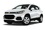 Stock pictures of low aggressive front three quarter view of 2017 Chevrolet Trax LS 5 Door SUV Low Aggressive