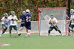 Orange, CA 05/16/15 - Cody Cook (Concordia #25) and Ryan Green (Dayton #23) in action during the 2015 MCLA Division II Championship game between Dayton and Concordia, at Chapman University in Orange, California.