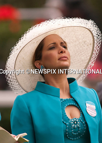 "Princess Haya bint Al Hussein and Sheikh Mohammed bin Rashid AL Maktoum support their horse as they attend the Ladies Day of racing at the Royal Ascot Meeting, Ascot_18/06/2009.Mandatory Photo Credit: ©Dias/Newspix International..**ALL FEES PAYABLE TO: ""NEWSPIX INTERNATIONAL""**..PHOTO CREDIT MANDATORY!!: NEWSPIX INTERNATIONAL(Failure to credit will incur a surcharge of 100% of reproduction fees)..IMMEDIATE CONFIRMATION OF USAGE REQUIRED:.Newspix International, 31 Chinnery Hill, Bishop's Stortford, ENGLAND CM23 3PS.Tel:+441279 324672  ; Fax: +441279656877.Mobile:  0777568 1153.e-mail: info@newspixinternational.co.uk"