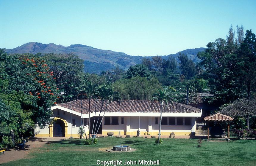 Onsite archaeological museum at the Mayan ruins of El Tazumal in El Salvador Central America