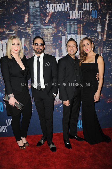 WWW.ACEPIXS.COM<br /> February 15, 2015 New York City<br /> <br /> A. J. McLean, Howie Dorough walking the red carpet at the SNL 40th Anniversary Special at 30 Rockefeller Plaza on February 15, 2015 in New York City.<br /> <br /> Please byline: Kristin Callahan/AcePictures<br /> <br /> ACEPIXS.COM<br /> <br /> Tel: (646) 769 0430<br /> e-mail: info@acepixs.com<br /> web: http://www.acepixs.com
