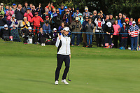 Bronte Law of Team Europe on the 10th green during Day 1 Fourball at the Solheim Cup 2019, Gleneagles Golf CLub, Auchterarder, Perthshire, Scotland. 13/09/2019.<br /> Picture Thos Caffrey / Golffile.ie<br /> <br /> All photo usage must carry mandatory copyright credit (© Golffile | Thos Caffrey)