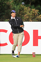 Tiffany Joh (USA) on the 3rd tee during Round 3 of the Ricoh Women's British Open at Royal Lytham &amp; St. Annes on Saturday 4th August 2018.<br /> Picture:  Thos Caffrey / Golffile<br /> <br /> All photo usage must carry mandatory copyright credit (&copy; Golffile | Thos Caffrey)