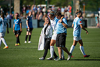 Kansas City, MO - Sunday May 07, 2017: Monica Hickmann Alves during a regular season National Women's Soccer League (NWSL) match between FC Kansas City and the Orlando Pride at Children's Mercy Victory Field.