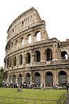 Tourists outside the Roman Colosseum. Italy,Europe