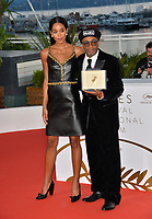 Spike Lee &amp; Laura Harrier at the photocall for &quot;Award Winners&quot; at the 71st Festival de Cannes, Cannes, France 19 May 2018<br /> Picture: Paul Smith/Featureflash/SilverHub 0208 004 5359 sales@silverhubmedia.com