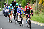 Tom Dumoulin (NED) Team Sunweb, David Gaudu (FRA) Groupama-FDJ, Emanuel Buchmann (GER) Bora-Hansgrohe and Gorka Izagirre Insausti (ESP) Astana Pro Team from the breakaway group during Stage 2 of the Criterium du Dauphine 2019, running 180km from Mauriac to Craponne-sur-Arzon, France. 9th June 2019<br /> Picture: ASO/Alex Broadway | Cyclefile<br /> All photos usage must carry mandatory copyright credit (© Cyclefile | ASO/Alex Broadway)