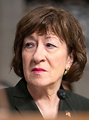 "United States Senator Susan Collins (Republican of Maine) at the US Senate Select Committee on Intelligence hearing ""to examine foreign influence operations' use of social media platforms"" on Capitol Hill in Washington, DC on Wednesday, September 5, 2018.<br /> Credit: Ron Sachs / CNP<br /> (RESTRICTION: NO New York or New Jersey Newspapers or newspapers within a 75 mile radius of New York City)"