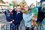 Conor, Shane, Tanya and Charlie Ashe at the James Ashe Memorial Tractor Run in Boolteens on Sunday.