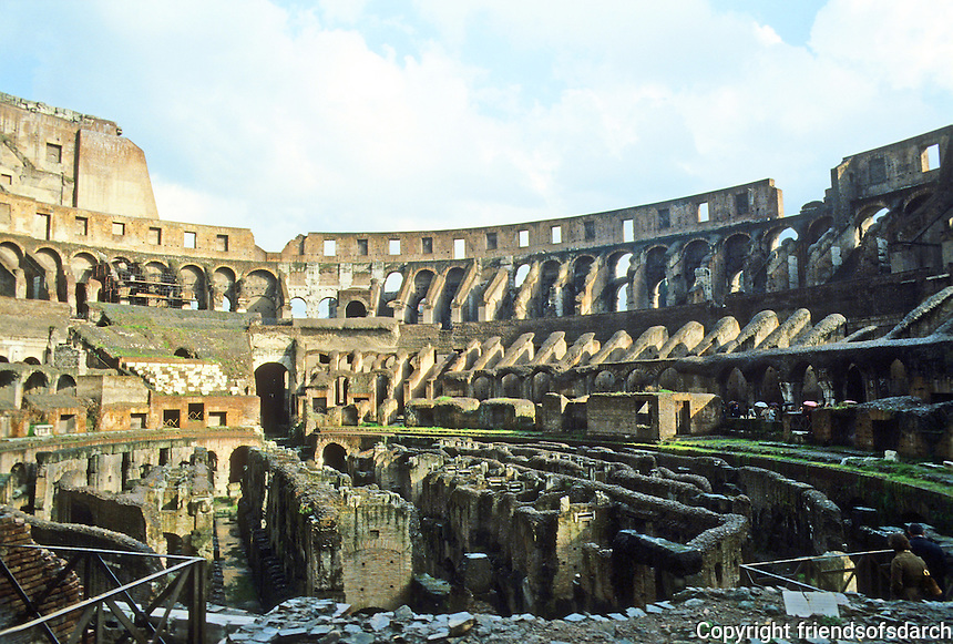 Italy: Rome--The Coloseum, Interior.