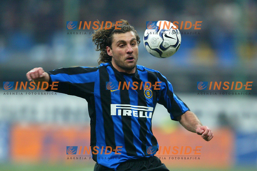 Milano 12/2/2004 Coppa Italia - Italy Cup - Semifinale <br /> Inter - Juventus 2-2 (6-7 after penalties) <br /> Christian Vieri (Inter)<br /> Photo Andrea Staccioli Insidefoto