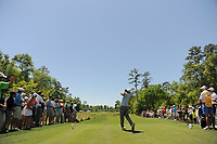 J.B. Holmes (USA) watches his tee shot on 2 during round 1 of the Shell Houston Open, Golf Club of Houston, Houston, Texas, USA. 3/30/2017.<br /> Picture: Golffile | Ken Murray<br /> <br /> <br /> All photo usage must carry mandatory copyright credit (&copy; Golffile | Ken Murray)