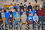 MEDALS:Mark ÓSé who was guest of honour who presented medals and trophy's to the under 14 Ardfert Footballers of the Ardfert Football Club on Thursday night 19 Dec 2013) in Kate Brownes Bar & Resturant) Ardfert.