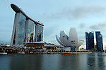 Singapore Marina Bay Sands Hotel and Art-Science Museum
