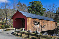 Green River Covered Bridge, Guilford, Vermont, USA.