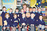SCHOOL: Arriving at Knockanure NS on Thursday were first day pupils. Front l-r: Tara Enright, Katie Reidy, Keira Large, Klaudia Waydlik and Lauren Duffy. Back l-r: Patrick Brosnan, Tadhg O'Connor, Toby Stylers, Aisling McAuliffe, Breda Kiely (teacher), Megan Large, Niall Morgan and Jamie O'Connor.... ....