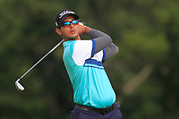 Kshitij Naveed Kaul of Team India on the 6th tee during Round 3 of the WATC 2018 - Eisenhower Trophy at Carton House, Maynooth, Co. Kildare on Friday 7th September 2018.<br /> Picture:  Thos Caffrey / www.golffile.ie<br /> <br /> All photo usage must carry mandatory copyright credit (© Golffile   Thos Caffrey)