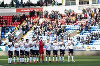 Bolton Wanderers players pay their respects to the late Gordan Banks <br /> <br /> Photographer Andrew Kearns/CameraSport<br /> <br /> The EFL Sky Bet Championship - Bolton Wanderers v Norwich City - Saturday 16th February 2019 - University of Bolton Stadium - Bolton<br /> <br /> World Copyright © 2019 CameraSport. All rights reserved. 43 Linden Ave. Countesthorpe. Leicester. England. LE8 5PG - Tel: +44 (0) 116 277 4147 - admin@camerasport.com - www.camerasport.com