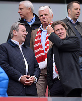 FUSSBALL   1. BUNDESLIGA  SAISON 2011/2012   34. Spieltag 1. FC Koeln - FC Bayern Muenchen        05.05.2012 (v. li.) Karl Hopfner (FC Bayern) Praesident Werner Spinner (1. FC Koeln) und Harald Toni Schumacher (1. FC Koeln)
