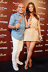 Colombian actress Juana Acosta and Spanish businessman Quique Sarasola during the display accessories Dipping Chocolate Bar: PARTY BY MAGNUM. May 30, 2015. (ALTERPHOTOS/Acero)