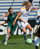 Los Angeles Sol defender Allison Faulk (3) takes the ball away from St Louis Athletica midfielder Lori Chalupny (17) during a WPS match at Hermann Stadium, in St. Louis, MO, April 25 2009. The match ended in a 0-0 tie.