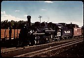 D&amp;RGW #478 K-28 with caboose 0505? In Chama.<br /> D&amp;RGW  Chama, NM