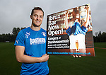 Jon Daly promoting a bar for the fans at Ibrox