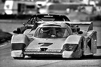 David Hobbs drives the Cooke Racing Lola T600 HU1/Chevrolet at Sebring in 1982. Hobbs, along with co-drivers Ralph Kent-Cooke and Jim Adams, finished the race in 20th place after encountering engine problems.