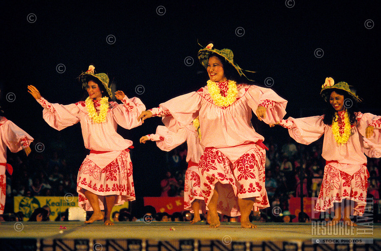 Hula dancers at the Merrie Monarch festival