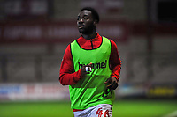 Fleetwood Town's midfielder Jay Matete (46) during the The Leasing.com Trophy match between Fleetwood Town and Liverpool U21 at Highbury Stadium, Fleetwood, England on 25 September 2019. Photo by Stephen Buckley / PRiME Media Images.