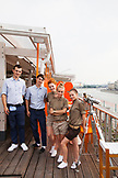 RUSSIA, Moscow. RUSSIA, Moscow. Staff at the roof restaurant at Bar Strelka which overlooks the Moscow River.