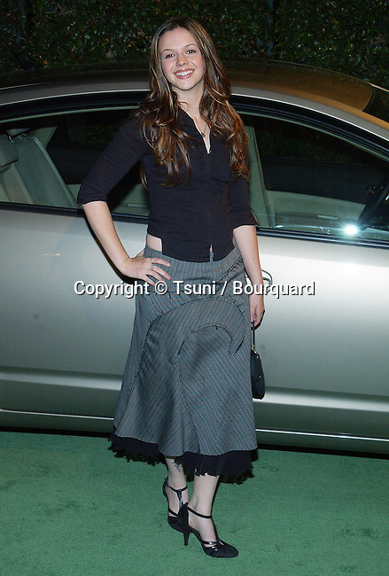 Amber Tamblyn arriving at the 13th Annual Environment Media Awards at the Ebell Theatre in Los Angeles. November 5, 2003.