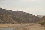 Israel, Eilat Mountains, motorcycling in Nahal Shlomo
