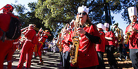 Members of the Leland Stanford marching band perform before Saturday, November 23, 2013, Big Game at Stanford University.