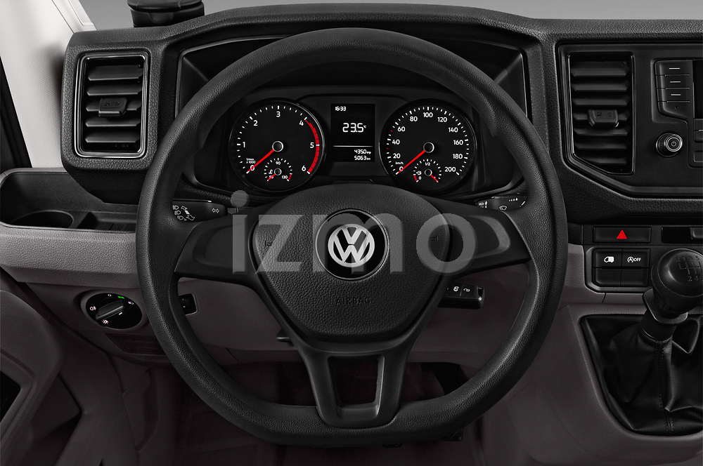 Car pictures of steering wheel view of a 2017 Volkswagen Crafter Base 4 Door Cargo Van