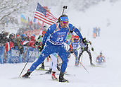 9th December 2017, Biathlon Centre, Hochfilzen, Austria; IBU Biathlon World Cup; Sean Doherty (USA) during the mens 12.5KM pursuit