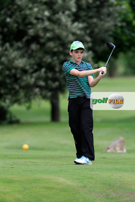 Thomas Harte (Castle) on the 11th tee during the Irish Boys Under 13 Amateur Open Championship in Malahide Golf Club on Monday 11th August 2014.<br /> Picture:  Thos Caffrey / www.golffile.ie
