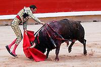 pamplona, plaza de toros, toros, toreros<br /> san fermin