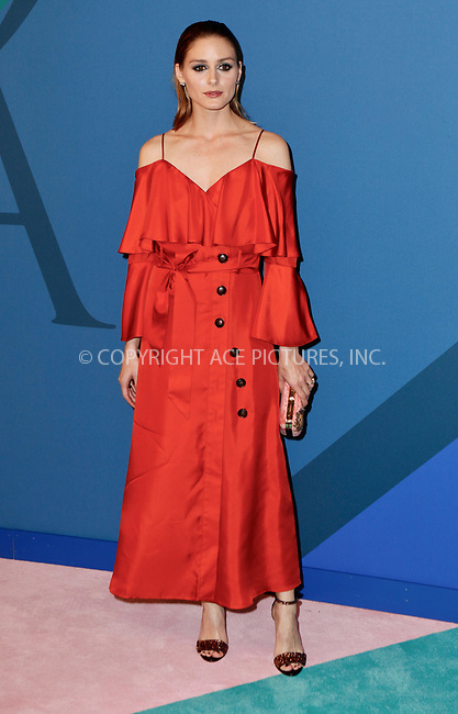 www.acepixs.com<br /> <br /> June 5, 2017 New York City<br /> <br /> Olivia Palermo arriving at the 2017 CFDA Fashion Awards on June 5, 2017 in New York City.<br /> <br /> By Line: Nancy Rivera/ACE Pictures<br /> <br /> <br /> ACE Pictures Inc<br /> Tel: 6467670430<br /> Email: info@acepixs.com<br /> www.acepixs.com