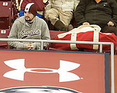 BC WIH's biggest fan Richy Schwalm - The Boston College Eagles defeated the visiting Northeastern University Huskies 2-1 on Sunday, January 30, 2011, at Conte Forum in Chestnut Hill, Massachusetts.