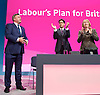 Ed Balls speech <br /> Labour Party Conference, Manchester, Great Britain <br /> 22nd September 2014 <br /> <br /> Ed Balls MP <br /> Shadow Chancellor<br /> Stability &amp; Prosperity debate<br /> <br />  Ed Miliband <br /> <br /> Harriet Harman <br /> <br /> <br /> Photograph by Elliott Franks <br /> Image licensed to Elliott Franks Photography Services